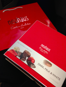 Complimentary box of Belgian Chocolates from Neuhaus