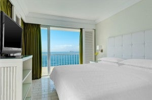 A guest room at the Sheraton Rio.