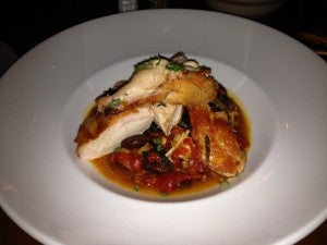 The chicken dish was simple but good.