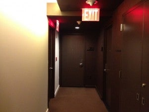 The hallway to my room - not much to look at.