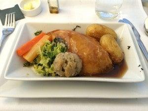 Aboard BA's Club World, chicken tastes like chicken