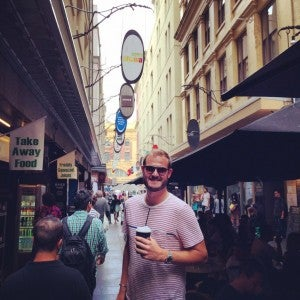 First stop in Melbourne: Desgraves St to see what Melbourne's coffee scene is all about
