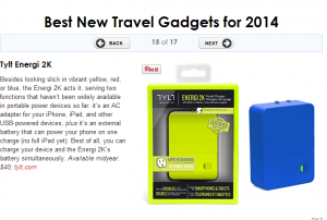 These electronics are great for travel.