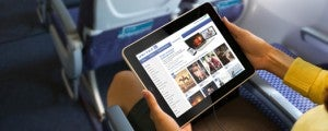 Use an iPad app to watch your favorite shows on United flights starting April 1, 2014.