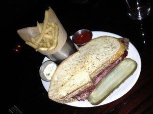 My pastrami sandwich at BLT Bar & Grill.