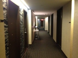 The hallway - a bit institutional for my taste.