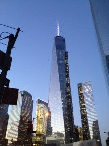 The hotel was right across from the Freedom Tower.
