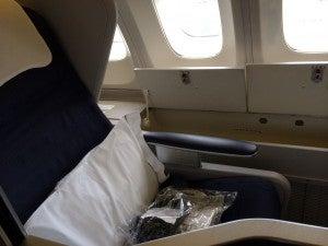 Club World window seats have extra storage