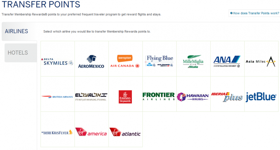 You Can Transfer Amex Membership Rewards Points To 17 Airlines And 4 Hotels