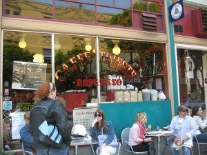 North Beach is full of gelato  bars and espresso cafes