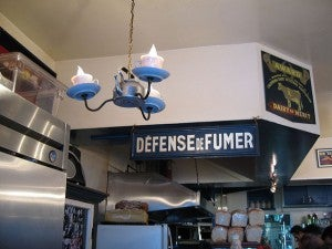 The whimsical interior of Dottie's True Blue Cafe