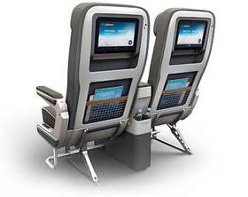 Lufthansa premium economy seats.
