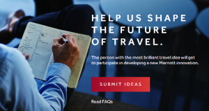 Win a trip to Washington D.C for travel innovation ideas.