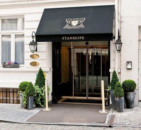 Entrance to the Hotel Stanhope, Brussels