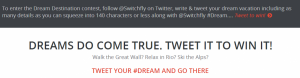 Win a dream vacation on Switchfly.