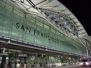 The modern facade of SFO's Terminal 2