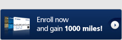 You get 1,000 miles just for signing up.