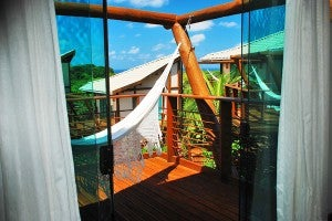 Balcony of an upper bungalow at the Teju-Acu (photo courtesy of the hotel's website)