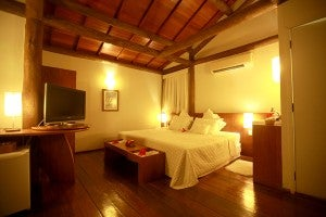 Interior of a bungalow at the Ecopousada Teju-acu (courtesy of the hotel's website)