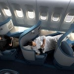Delta's lie-flat BusinessElite seats aboard its 777s