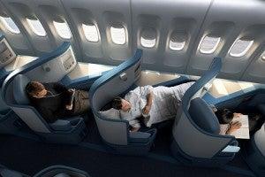 Delta's lie-flat BusinessElite seats aboard its 777s