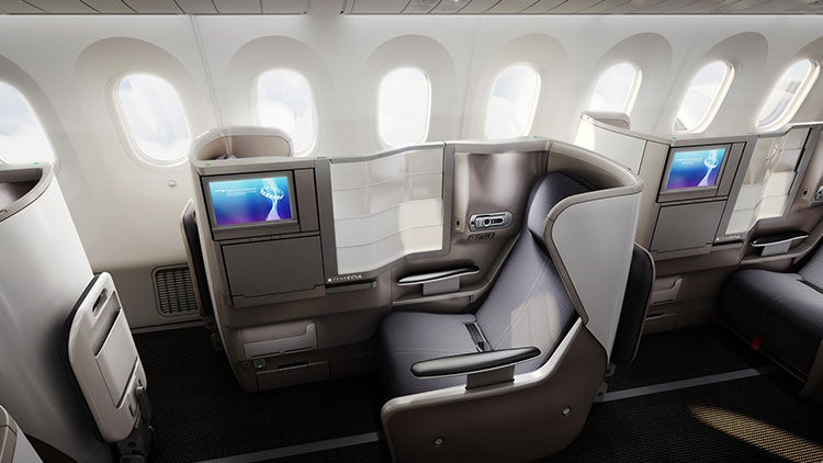 Club World seats aboard BA's Dreamliner