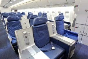 Delta's 767 BusinessElite seats.