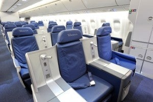 Delta's 767 BusinessElite seats.