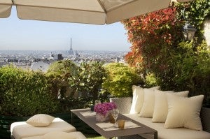 Sip a glass of chilled wine as you take in panoramic views of Paris.