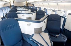 BusinessElite seats on Delta's A330's.