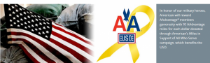 Donate to USO and earn 10 miles per $1 donated.