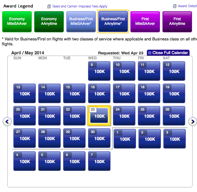 American Airlines Announces 5 Tier Award Chart And