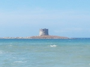 A small island castle off of Stintino beach.
