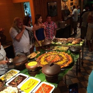Just one small part of the buffet table at Ze Maria's Festival Gastronomico