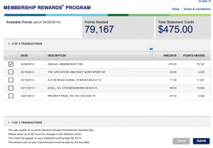 Using my Amex points for statement credits is a no-no.