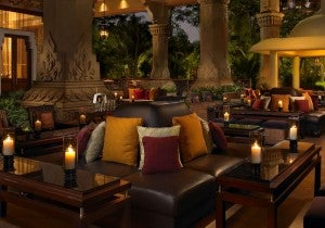 Library Lounge at the Leela Palace