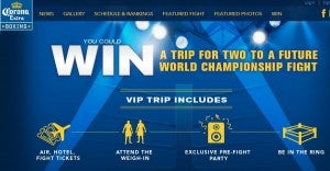 Win a trip to Las Vegas to see a World Championship Boxing Match.