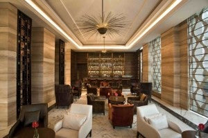 Lobby lounge at the Crowne Plaza New Delhi Mayur Vihar Noida
