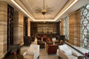 Lobby lounge at the Crowne Plaza New Delhi Mayur Vihar Noida