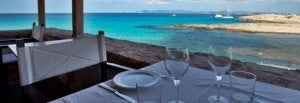 Beachfront dining at Es Moli de Sal.