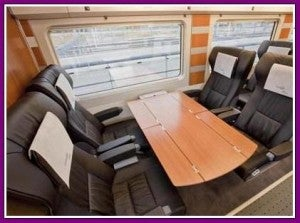 The four person table seating.