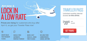Now's the time to lock in this low monthly rate for Gogo Inflight