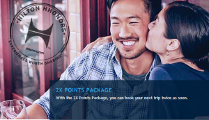 Hilton offers double points on stays at participating properties.