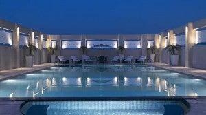 The pool at the Hilton Garden Inn Delhi