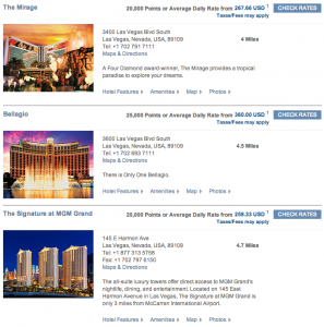 Hyatt MGM search results