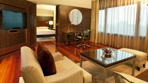Premier suite at the Hyatt Regency Delhi