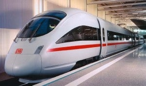 The ICE German highspeed train.
