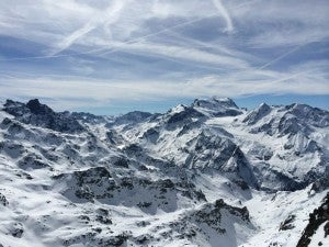 The slopes of Verbier.