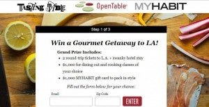 Win a gourmet food trip to LA.