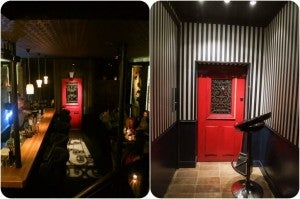 Enter this speakeasy with the aptly named little red door!